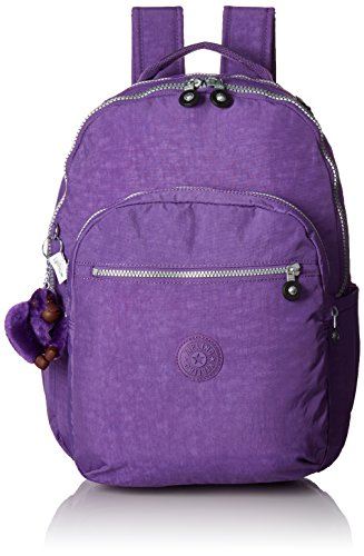 Seoul L Solid Laptop Backpack, Purple Feather