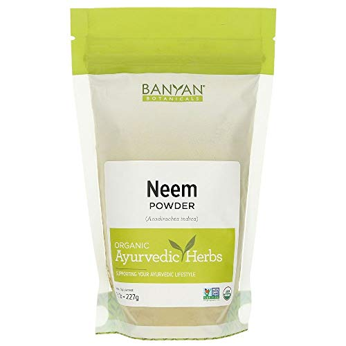 Banyan Botanicals Neem Powder - USDA Organic - 1/2 Pound, Azadirachta indica - Ayurvedic Herb for Skin & Blood*