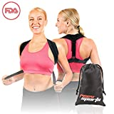 Posture Corrector – Adjustable Clavicle Brace for Men & Women – Back Brace for Pain and Rigid Knots Relief – Back Straightener Strap – Comfortable and Breathable Fabric – Invisible Under Clothes