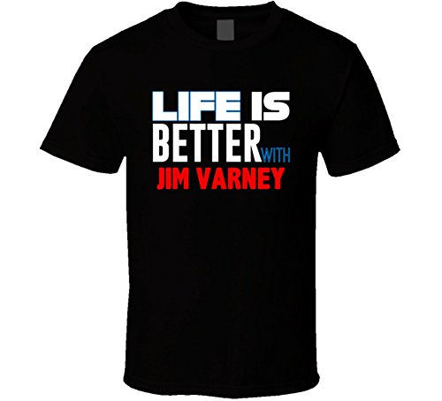 Life is Better with Jim Varney Funny Stand Up Comedian T Shirt XL Black