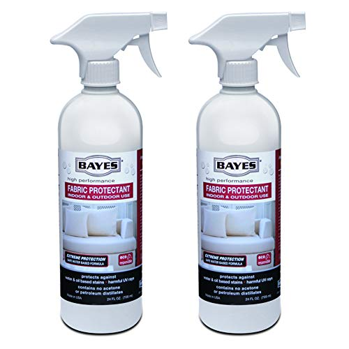 (Bayes High-Performance Fabric Protectant Spray for Indoor and Outdoor Use - Water, Stain, and UV Rays Repellent - 24 oz, 2 Pack)