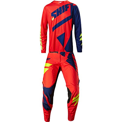 (SHIFTMX Shift MX 2017 Black Label Mainline Red & Navy Jersey/Pant Combo - Size MEDIUM/32W)
