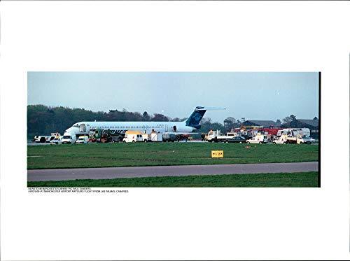 Vintage photo of Aircrash at manchester airport ()
