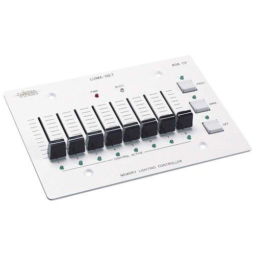 Leviton N0808-CP0 Remote Memory Control Panel, 8 Manual Slide - Slide Manual