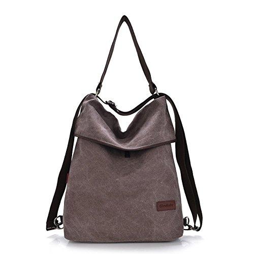 Gindoly Women Canvas Shoulder Bag,Ladies Handbag Vintage Crossbody bags Top Handle Shopping Hobo Bag Beach multifunction Bags for Shopping Travel School Pale Mauve
