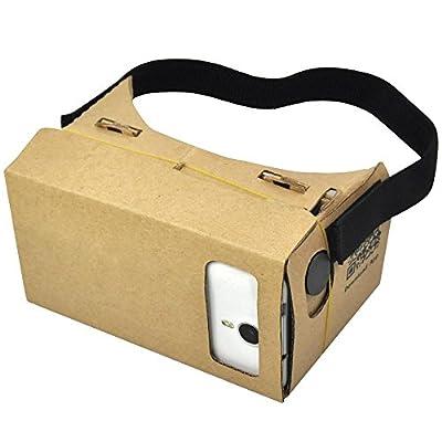 go2buy Google Cardboard Super 3D Virtual Reality Glasses DIY Glasses for 3D/Movie/Game Easy t Setup