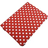 360 Degree Folio Stand Case for Samsung Galaxy Note 10.1, White Dots Red