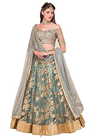 610129da806 Amazon.com  designer Bollywood wedding lehenga choli saree bridal lengha  choli  Clothing