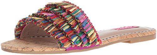 Betsey Johnson Womens Venus Flat Sandal Natural Multi