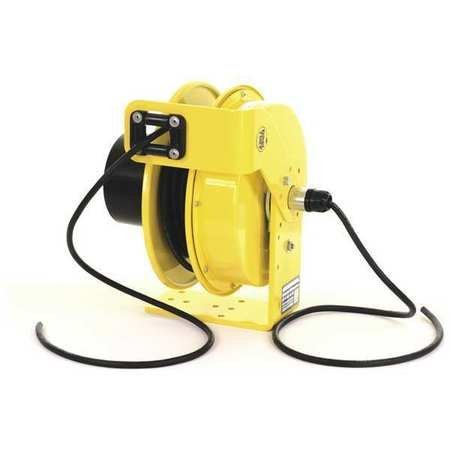 (KH Industries RTF Series ReelTuff Power Cord Reel with Constant Tension for Festooning Systems, 16/4 SOOW Cable, 50' Length, Yellow Powder Coat Finish)