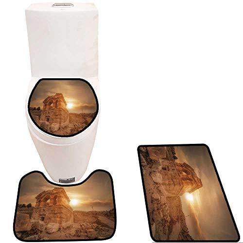Toilet Carpet Floor mat Evening View of Ruins in Tufanbeyli,Adana Non-Slip Soft Absorbent Bath Rug