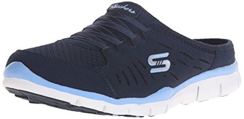 Skechers Sport Women's Gratis No Limits Fashion Sneaker,Navy/Light Blue,7.5 M US