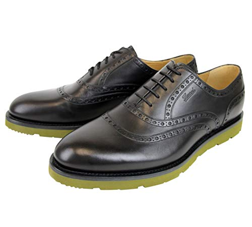 Gucci Oxford Black Leather Dress Shoes with Logo 322483 1000 (9.5 G / 10.5 ()