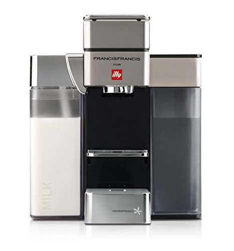 - Francis Francis for Illy Y5 Milk Espresso and Coffee Machine, Satin