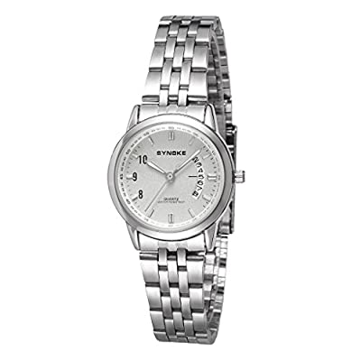 Auspicious beginning Adult's Business Quartz Steel Band Waterproof With Calendar Watch