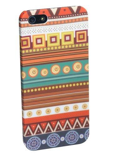 PEDEA Tribal Hülle für Apple iPhone 5S/5 braun