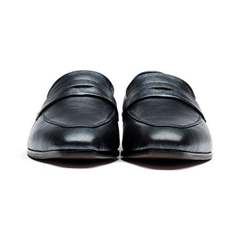 Opp Heren Gepolijste Lederen Jurk Schoenen Puntschoen Formele Schoenen Ontwerper Zwart