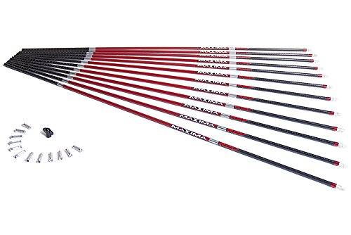 Carbon Express Maxima RED Carbon Arrow Shaft with Dynamic Spine Control, Size 250, 12-Pack - Maxima Hunter 250 Shaft