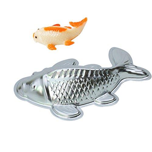 GXHUANG 10 inch Lifelike Carp Aluminum Cupcake Bake Pan Fish Cake Baking Cyprinoid Mold (Fish)