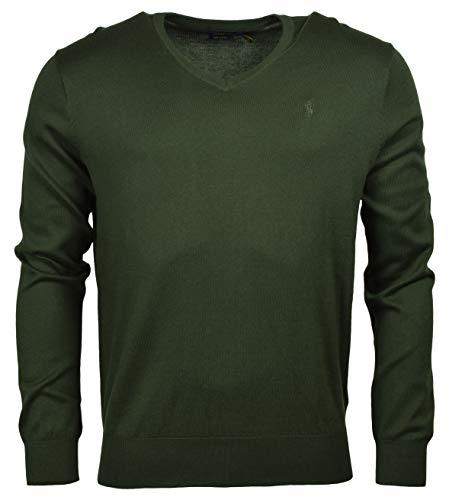 Polo Ralph Lauren Men's Classic Fit Long Sleeve V-Neck Pima Cotton Sweater