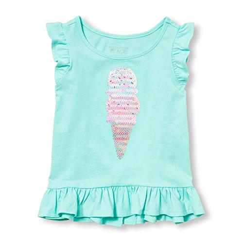 The Children's Place Girls' Her Li'l Short Sleeve Flutter Sleeve Gingham Top