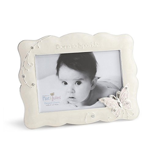 DEMDACO Butterfly Photo Frame, Born To Sparkle, 4''x6'' by Demdaco