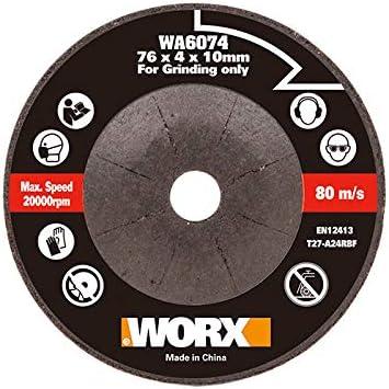 WORX WA6076.3-3 Discos de Corte Metal 76mm WX801//WX801.9