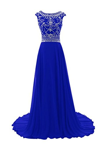 Rund Diamant Saphirblau Abend Damen Party Hals lang Dance emmani Kleid 7vTq1ww