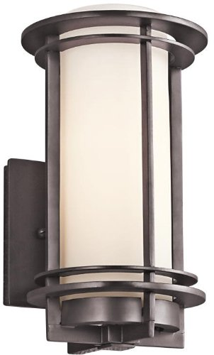 Kichler 49344AZ Pacific Edge Outdoor Wall 1-Light, Architectural Bronze