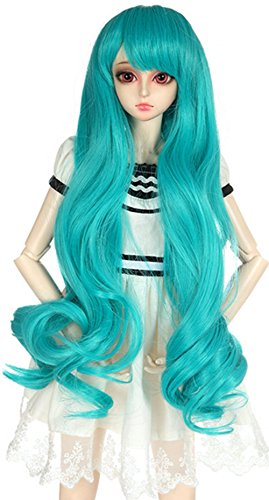 OYSRONG Long Wavy Green Color Neat Bangs 1/3 BJD/SD Doll Wigs For Girls