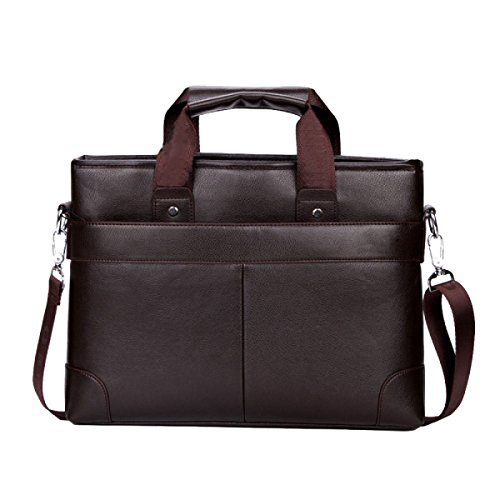 Computer Bag Messenger Tempo Orizzontale Borsa Uomo Moda Valigetta libero Brown Business Wild Brief ZukXiOP