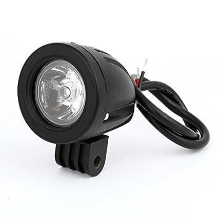 eDealMax Ronda de Negro en Forma de Trabajo Blanco del coche LED Campo a través del