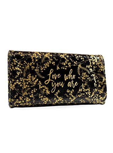 Papaya Art Wallet Black Foiled Flower, 1 EA