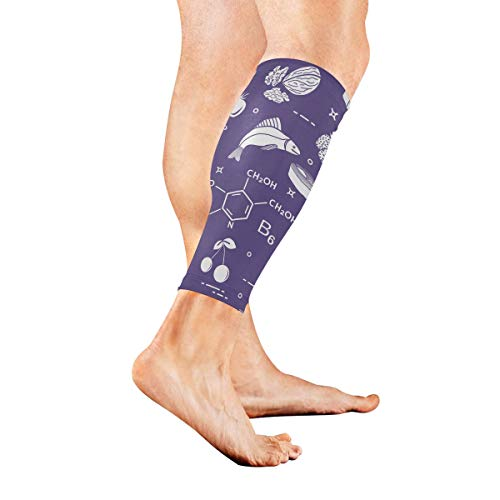 Anyangquji Foods Rich in Vitamin B6 Sports Calf Compression Sleeve Strong Calf Support for Runners(1 Pair)