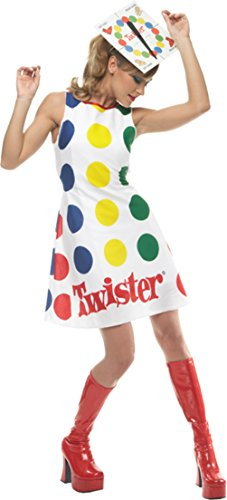 Twister Costume Women (Incharacter Womens Comical Twister Adults Theme Party Fancy Halloween Costume, M (8-10))
