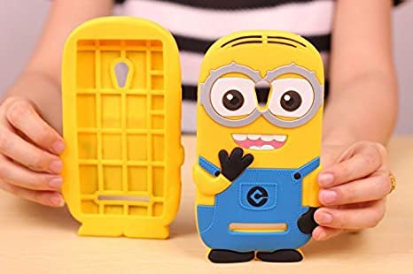 designer fashion 1956b 8142c PES Cute Cartoon Minion Despicable Me Minion Best Back Case Cover For Oppo  R1001 Joy - Yellow & Blue