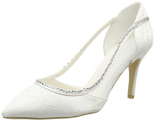 Blanc Couvert Talons Elfenbein Wedding Ivory du Avant Menbur à Chaussures Pieds Belinda Femme 8OUwBqv