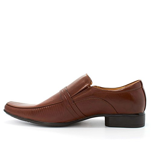 Londres calzado Columba, Hombres de Slip On Smart/formal zapatos marrón