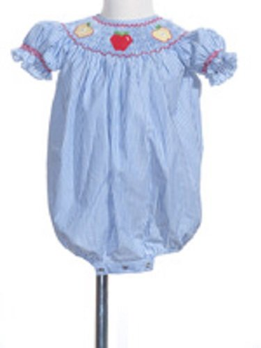 (Infant Smocked Apple Bubble Size 2 Toddler)