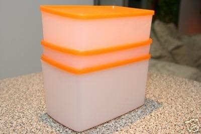 Tupperware Tamaño Mediano congelador cuadrado redondo rectangular ...
