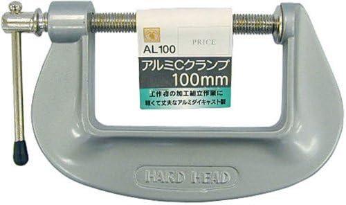 (業務用5個セット) H&H アルミCクランプ AL100 100mm シルバー