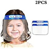 Face Shield-2 Pack Anti-Fog Adjustable Full with Clear Stretchy Film Elastic Band and Sponge Face Protective Shields…