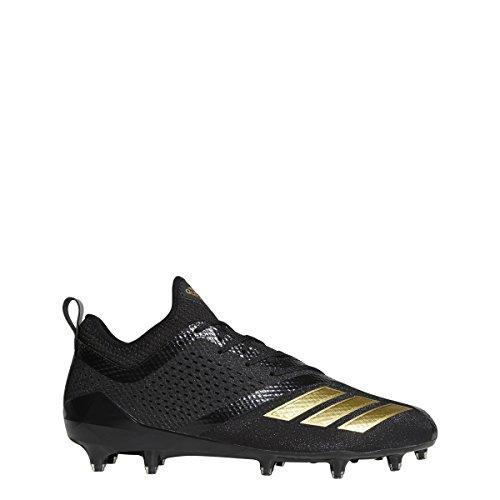 Adidas Black Football Cleat - adidas Men's Adizero 5-Star 7.0 Football Cleats (10.5, Black/Gold Metallic/Gold Metallic)