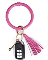Wristlet Keychain Bracelet Bangle Keyring,Tassel Bracelet Key Ring O Key Ring for Women Girls