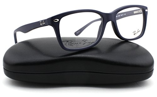 Ray-Ban RX5228 Square Unisex Eyeglasses (Sand Blue Frame 5583, (Discount Ray Ban Eyeglasses)
