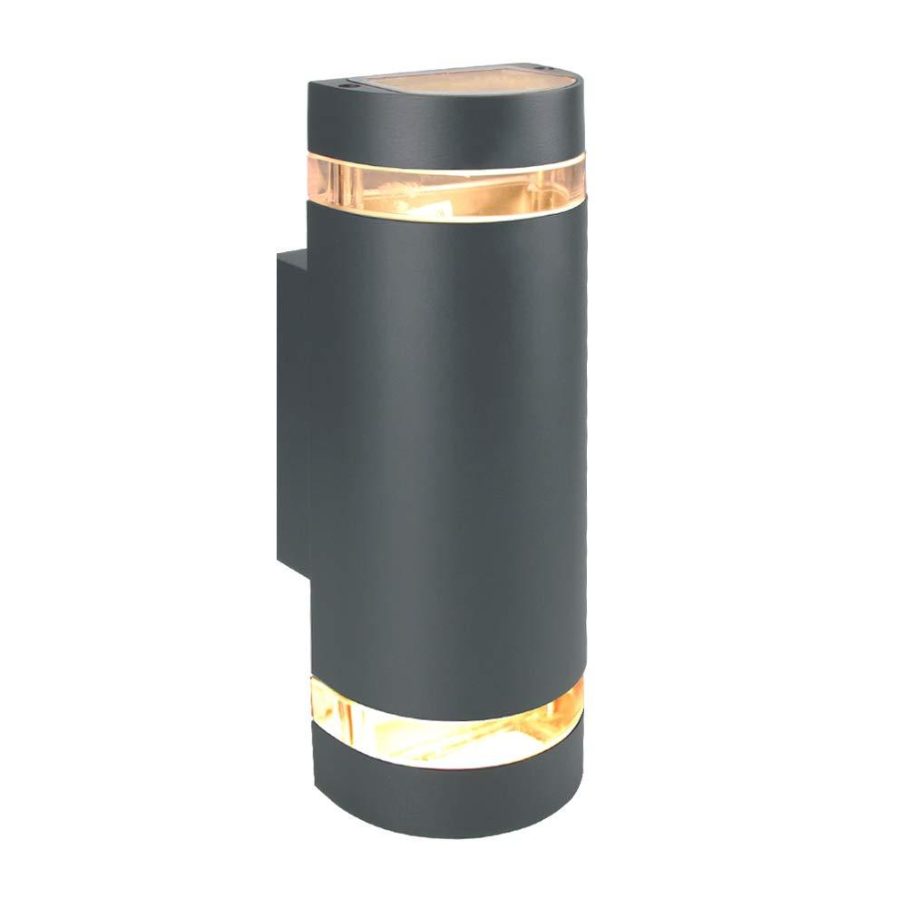 Laside Außenleuchte Aussenleuchte Max 2x35w Gu 10 Aluminium Up And Down Außenlampe Aussenlampe Ip44 Spritzwassergeschützt Anthrazitgrau Wandleuchte