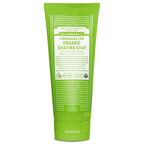 (Dr. Bronner's Shaving Gel, Lemongrass Lime - 7 ounces)