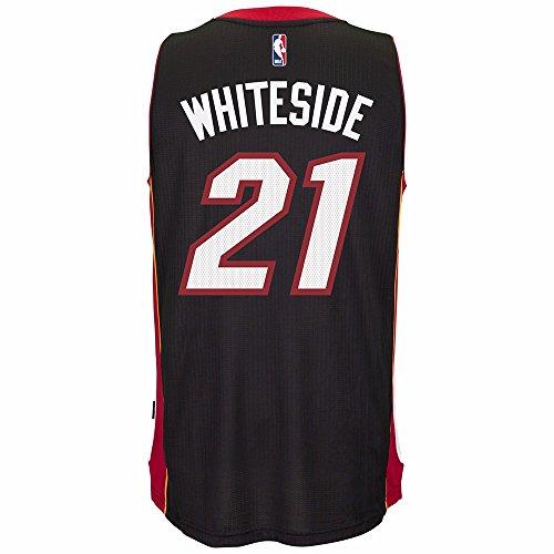- adidas Hassan Whiteside Miami Heat NBA Black Official Climacool Away Road Swingman Jersey For Men (2XL)