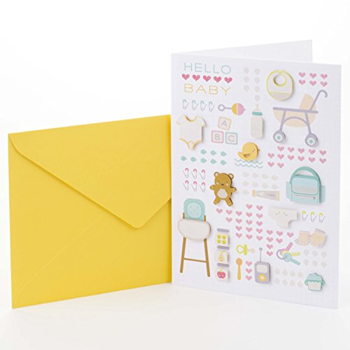 Hallmark Signature Baby Shower Card (Baby Icons)