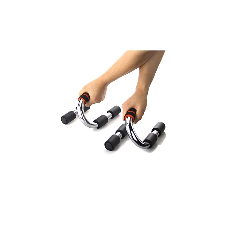 LANYOS Push up Bars Steel Stands Suitable for any Pushup Training Program for Men or Women with Comfortable Grip